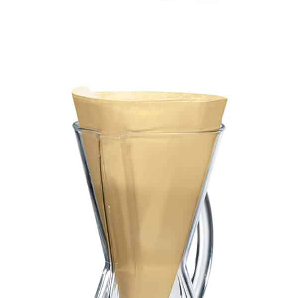 Filtros marrón CHEMEX para 3 tazas
